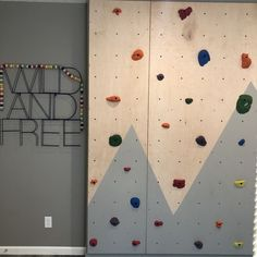 How to build a DIY kids climbing wall Learn how to build a DIY kids climbing wall that can continue to grow with your kids. Toddler Climbing Wall, Rock Climbing Party, Indoor Climbing Wall, Kids Climbing, Climbing Flowers Trellis, Rock Climbing Techniques, Diy Wall, Wall Decor, Diy For Kids