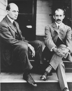 Orville and Wilbur Wright. Dayton, Ohio. #dayton; #Orville and Wilbur Wright   The Wright brothers, Orville (August 19, 1871 – January 30, 1948) and Wilbur (April 16, 1867 – May 30, 1912), were two Americans credited[1][2][3] with inventing and building the world's first successful airplane and making the first controlled, powered and sustained heavier-than-air human flight, on December 17, 1903. In the two years afterward, the brothers developed their flying machine into the first practical…