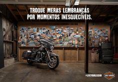 """Harley-Davidson reforça a mensagem de legado da marca com o slogan: """"Troque meras lembranças por momentos inesquecíveis""""."""
