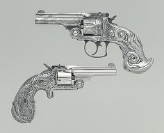 Smith and Wesson .38 Double-Action Second Model Revolver, serial no. 70002  Date: about 1883–90 Culture: American (Springfield, Mass. and New York, NY)