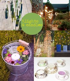 10 Things every Summer Garden Party Needs | Fairy lights and candles