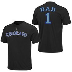 Colorado Rockies Team Dad T-Shirt by Majestic Athletic - MLB.com Shop