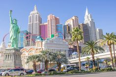 Want to find the best Las Vegas hotel pools to visit? From relaxing spots to adults-only pool parties check out our best-of compilation. Best Las Vegas Hotels, Vegas Lights, New York Hotels, Hotel Pool, San Francisco Skyline, New York Skyline, Mansions, House Styles, Travel