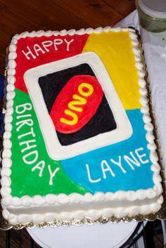 UNO Birthday Party, Close up of Uno Cake
