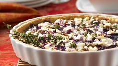 Rezept: Rotkohl-Tarte mit Ziegenfrischkäse