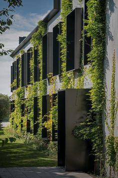 Vertical gardens 627900373031967915 - Cool 45 Superb Vertical Garden Design Ideas For Green And Cool House Source by needecordecor Building Facade, Green Building, Building Design, Green Architecture, Landscape Architecture, Architecture Design, Small Buildings, Beautiful Buildings, Facade Design