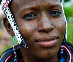 Africa | A Peul / Fula woman.  Natitingou, Atakora Department, Northern Benin | ©Boaz Images