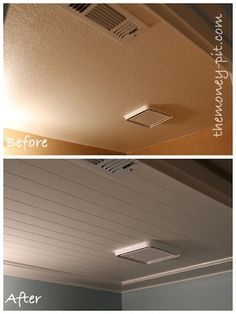 bead board ceiling tutorial
