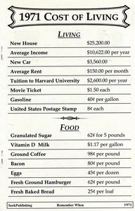 1971 Cost of Living - Here's to simpler times:)