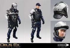 ArtStation - Deus Ex Mankind Divided - Prague Police, Bruno Gauthier Leblanc