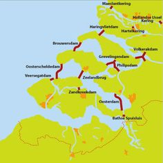 Delta Works, Deltaworks, Project of several dams and barriers to protect the South-West of the Netherlands Delta Works, Netherlands Country, Waterworks, Old Maps, Always Learning, Live In The Now, Rotterdam, Places To Go, Around The Worlds