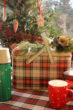 vintage Christmas ~ plaids & polka dots ~ Aiken House & Gardens