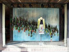 Spring window display, fashion window display, window display design, s Spring Window Display, Fashion Window Display, Christmas Window Display, Window Display Design, Shop Window Displays, Display Windows, Christmas Backdrops, Store Displays, Visual Merchandising