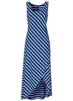 Vestido Longo Listrado - Posthaus $119,00