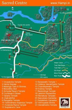 Hampi Itineraries Tourist Info, Hampi, India Travel, Infographic, How To Plan, Day, Kerala, Museum, Design