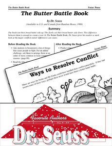A great #litguide filled with quick activities for #TheButterBattleBook by Dr. #Seuss! Students explore effective means of conflict resolution as they read about the war between the Yooks and the Zooks. #CCSS Grade: K-3