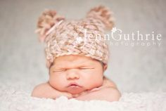 PomPom beanie by My Simply Sweet Little Boutique www.facebook.com/MSSLB  Photo by: Jenn Guthrie Photography  http://www.facebook.com/jennguthriephotography