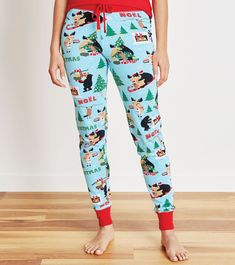 Wild About Christmas Sleep Leggings from Little Blue House by Hatley