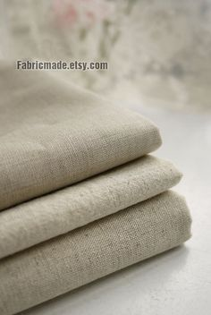 Natural Beige Linen Flax Fabric/ Linen/ Natural Fabric/ Upholstery/ Native Cotton Linen-A half yard 112cm x 45cm