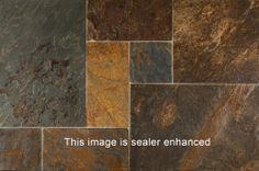 BuildDirect – Slate Tiles - Versailles Pattern – Multi Brown - Multi View