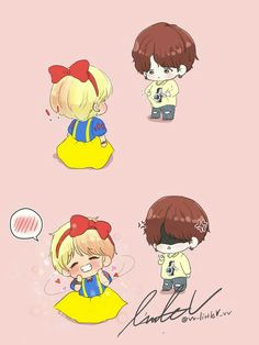 [Vkookminga] Our little cutie loveu Bts Chibi, Chibi Boy, Taehyung Fanart, Vkook Fanart, Bts Taehyung, Bts Manga, 5 Anime, Anime Naruto, Kpop Drawings