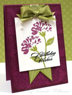 Purple Flower Stampin' Up Card