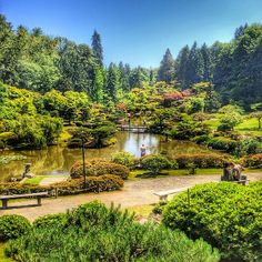This garden may look like #Japan, but it's actually the Japanese #Garden in #Seattle. Photo courtesy of eachapman4 on Instagram.