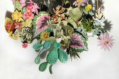 Beautifully blossoming flower art collages grow out of the canvas   Creative Boom