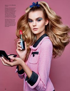 Kate Grigorieva with Barbie makeup for Allure Russia Magazine April 2016
