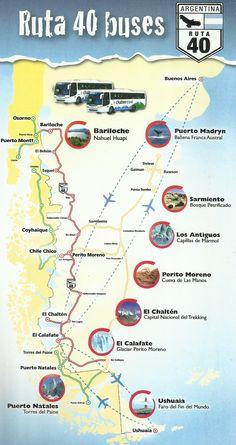 Buses in Chalten (Argentina Patagonia) ::Chalten Travel. Turismo en la Patagónia Argentina. El Chalten, El Calafate, Ushuaia, Perito Moreno, Ruta 40, Los Antigüos, Puerto Madryn, Bariloche || Ruta 40