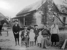 The Rev John B Gordon Rainwater family @ 1916 thought to be near Bill Arp. L-R:  Merrill, John B Gordon Rainwater, Ethel Lee, Harold, Hugh Dorsey, Etta Miller Rainwater, Effie.   from Terri Rainwater via Every Now and Then facebook page.  Retrieved 5/21/2014. Sweetwater Park, Lithia Springs, Douglas County, My Family History, Old Images, The Rev, Park Hotel, Interesting History, Best Memories