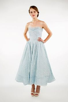 Constance Dress, a 1950's bridesmaid dress.