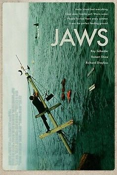 Jaws Movie Poster, Best Movie Posters, Cinema Posters, Cool Posters, Pet Sematary, Non Plus Ultra, Perfect Movie, Film Movie, Jaws Film