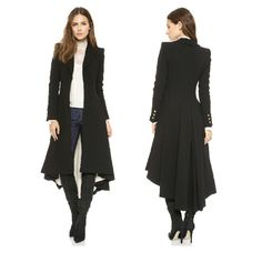 Autumn Winter Brand Wraceful Woolen Overcoat Women fashion long black trench 2015 british style tuxedo manteau femme coats YG622-in…