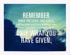 Generosity.