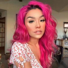 Arctic Fox hair color is vibrant, long-lasting, semi-permanent hair dye that is made in the USA. Girl With Pink Hair, Hot Pink Hair, Pink Hair Dye, Hair Color Pink, Hair Dye Colors, Girl Short Hair, Cool Hair Color, Curly Pink Hair, Pink Dye