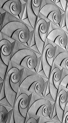 Art Deco Wall - Such a great pattern - Is that some golden ratio goodness I see happening in there? Motif Art Deco, Art Deco Pattern, Art Deco Design, Art Deco Tiles, 3d Pattern, Art Nouveau, Art Et Architecture, 3d Wall Tiles, Estilo Art Deco