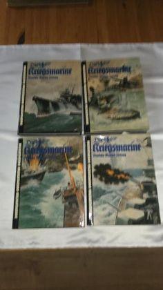 337) Die Kriegsmarine - dt. Marine Zeitung, 4 von 5 Bänden vorhanden, Schutzumschlag mit Gebrauchsspuren ansonsten TOP, Preis 20€ pro Band