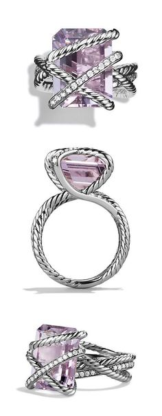 Amethyst Cable Wrap Ring //