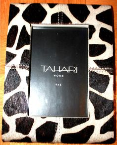 Collection Picture PHOTO Frame GIRAFE Print FAUX FUR Back LEATHER  $89.97