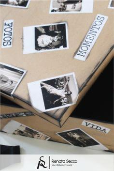 Caixa Personalizada para guardar fotografias; presentes personalizados. ♥ Orçamentos: contato@renatasecco.com.br