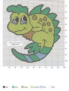 CUTE CHAMELEON WALL HANGING by CREATIVECANVASCRAFTS.COM