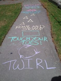 So much better than hopscotch. Cute babysitting idea.