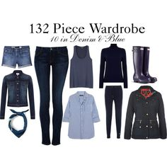 """10 in Denim & Blue"" by charlotte-mcfarlane on Polyvore"