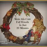 Linked to: creativelyhomemade.com/quick-easy-fall-wreath-tutorial/