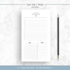 Printable Daily Planner  Daily Agenda Daily To Do Page