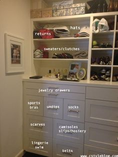 Smaller individual drawers for small items.