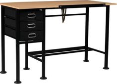 The Martin Dorchester Split-top Craft Table provides not only a versatile work surface but convenient storage for supplies. The innovative table top tilts while the adjacent surface remains stationary for palettes, tools, tablets and reference material. Big Desk, Sewing Table, Light Oak, Home Office Desks, Minimalist Design, A Table, Storage Spaces, Work Surface, Top
