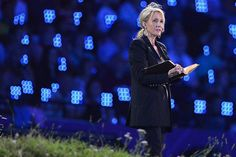 Harry Potter author J.K. Rowling takes part in the opening ceremony. Picture: AFP