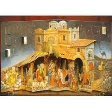 3d Nativity scene advent calendar.